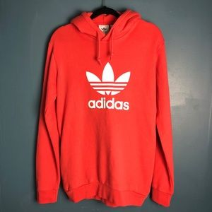 Adidas original trefoil hoodie size S pink coral